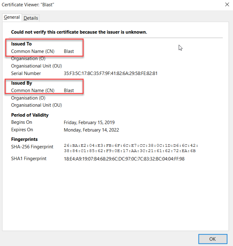 Certificates for Horizon HTML Blast Agent and non-persistent
